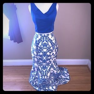 Two Piece formal gown prom dress